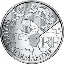 Франция, 10 евро, 2010, Верхняя Нормандия