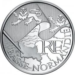 Франция,10 евро, 2010, Нижняя Нормандия