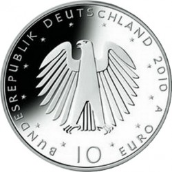 Германия, 10 евро, 2010, объединение, аверс