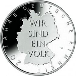 Германия, 10 евро, 2010, объединение, реверс