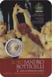 2 евро, Сан-Марино «500 лет со дня смерти Сандро Боттичелли»