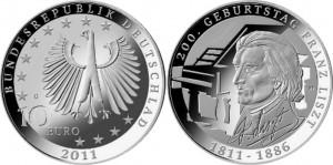 Германия, 2011, 200 лет со дня рождения Франца Листа