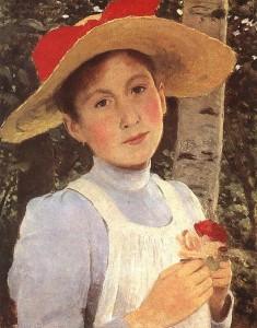 Rózsi Szinyei Merse, дочь художника (1897)