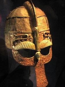 Вендельский шлем (550-793 гг.), из захоронения Вендель. Экспонируется в Музее истории в Стокгольме.