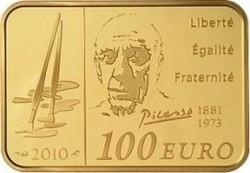 Франция, 100 евро, Пикассо