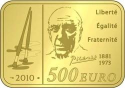 Франция, 500 евро, Пикассо