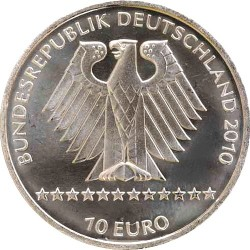Германия, 10 евро, 2010, Чемпионат мира по горнолыжному спорту