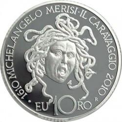 Италия, 10 евро, 2010, Караваджо, реверс