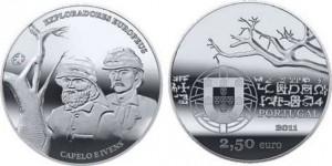 2,5 евро «Эрменеджильду Капеллу и Роберто Ивенс»