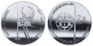 2,5 евро «100 лет Instituto Militar dos Pupilos do Exército»
