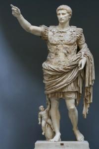 Август из Прима-Порта, I век, мрамор. Музей Кьярамонти, Ватикан