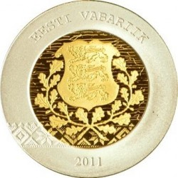 Эстония, 2011, 20 евро, Присоединение Эстонии, аверс