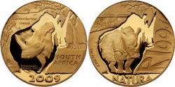 ЮАР, 100 рэндов, «Белый носорог»