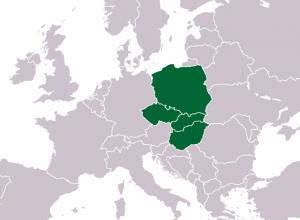 Вишеградская группа на карте Европы