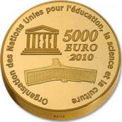 France 2010 5000 euro Taj-Mahal rev