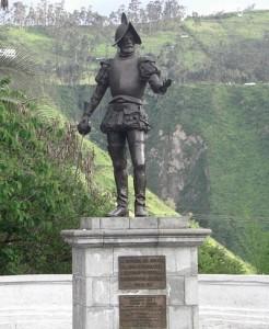 Статуя Франсиско де Орельяна в Кито - столице Эквадора