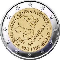 2 евро, Словакия (20 лет формирования Вишеградской группы)