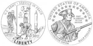 Плакированная монета «Армия США»