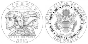 Серебряная монета «Армия США»