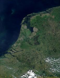 Нидерланды из космоса