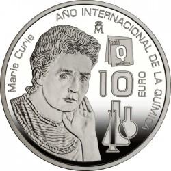 10 euro, Spain (Año Internacional de la Química)