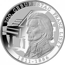 Германия, 10 евро, 2011, Ференц (Франц) Лист