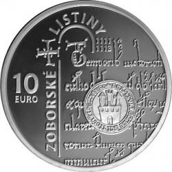 SLOVENSKO, 900th anniversary Zoborska list, 10 euro