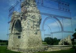 Реконструированная схема Языческих ворот