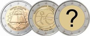 Монеты евро единой серии 2007, 2009, 2012 гг...