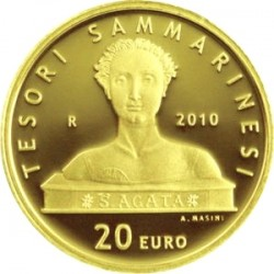 San Marino, 2010 («TESORI SAMMARINESI»). 20 евро, S.Agata