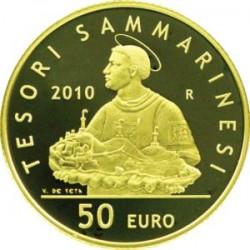 San Marino, 2010 («TESORI SAMMARINESI»). 50 евро, Marino
