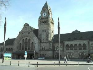 Фасад железнодорожного вокзала Меца