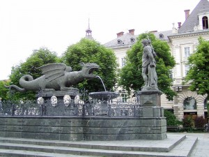 Фонтан-дракон (Lindwurmbrunner)