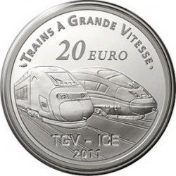 France. 2011. 20 euro. La Gare de Metz