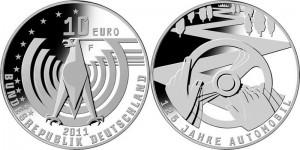 """10 евро, """"125 лет автомобилю"""""""