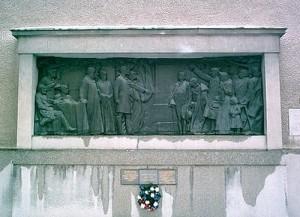 Рельеф на стене Лютеранской церкви в Мартине