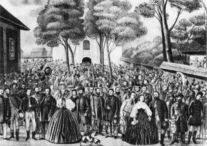 Картина собрания меморандума с 5.000 участниками