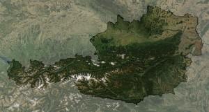 Австрия, вид из космоса