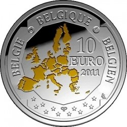 Belgique, 10 euro 2011, Bathyscaphen