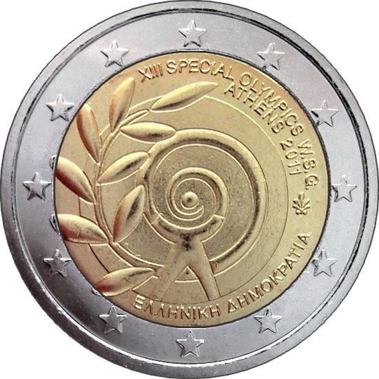 Греция монета 100 евро 2011 год специальная олимпиада пролеч навигатор