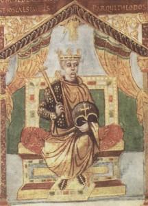Карл II Лысый (X в., изображение из национальной французской библиотеки).
