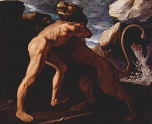 «Геракл удушает Немейского льва» (1634, Музей Прадо)