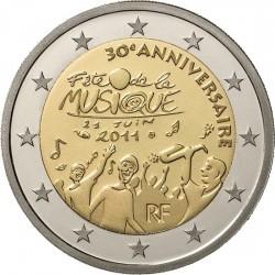 Франция, 2 евро, 2011, День музыки