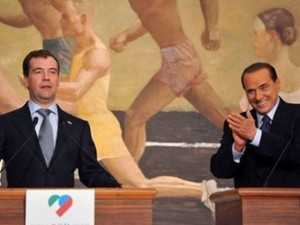 Медведев и Берлускони на открытии российско-итальянского года культуры