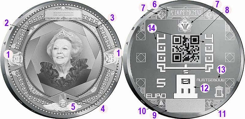 Дизайн монет весьма наполнен различными небезынтересными деталями. Попробуем разобрать их подробнее