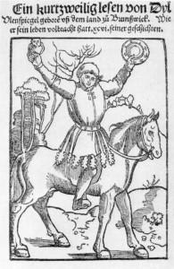 Титульный лист книги об Уленшпигеле издания 1515 года
