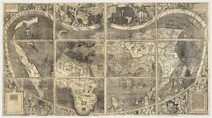 Карта Вальдземюллера 1507 г. (ныне зранится в Библиотекае Конгресса, США)