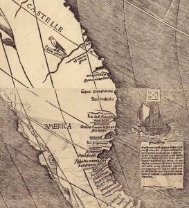 Деталь карты, на которой видно название нового континента