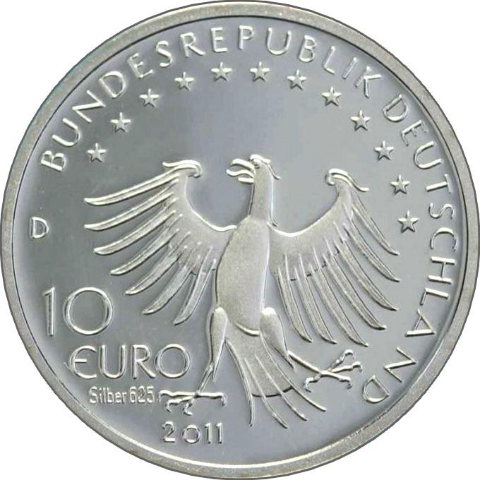 Двор монета 10 евро германии 2011 чемпионат мира женщины разменная монета англии