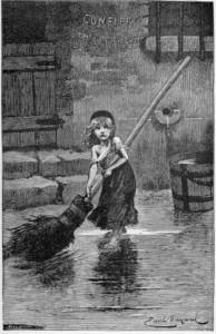 Козетта. Иллюстрация Эмиля Байарда (1837—1891)